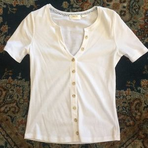 MAEVE RIBBED BUTTON DOWN